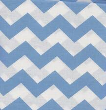 QUILT FABRIC:TONAL 100% COTTON, LARGE CHEVRON,  LIGHT BLUE, LC-15, By The Yard