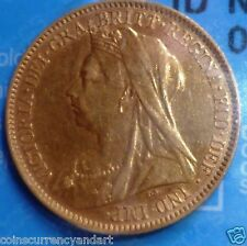 1901 UK (Great Britain)  Gold 1/2  Sovereign beautiful graded coin