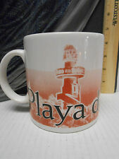 Starbucks Playa Del Carmen Mexico Coffee Mug 2008 Large Red Black City Series