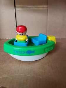 Vintage 90's Tonka Fisher Price Little People Speed Boat and Driver
