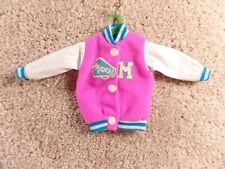 1980's Vintage Hasbro Maxie Letterman Pink Jacket Barbie Doll Fashion Gear