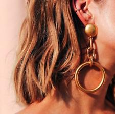 Vintage Geometric Round Heart Stud Statement Earrings Fashion Women Jewelry Gift