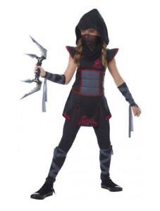 Fearless Ninja Stealth Japanese Warrior Assassin Book Week Girls Costume L