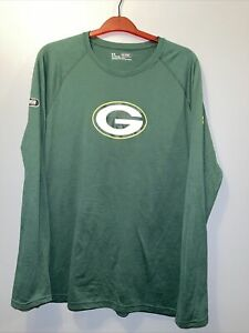 Under Armour Men's XL Green Bay Packers Combine Authentic Dot Logo Long Sleeve