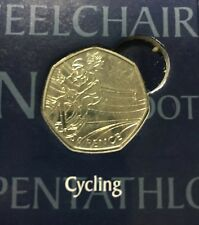 LONDON SUMMER OLYMPIC 2012 CYCLING 50P COIN 2011 FIFTY PENCE