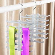 New Fishbone Necktie Tie Belt Hanger Rack Shawl Scarf Antiskid Holder Organizer