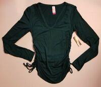 NO Boundaries Clavicle Tee Juniors Shirt Emerald Green XS 1 or S 3/5 NWT FAST