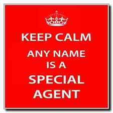 Special Agent Personalised Keep Calm Coaster
