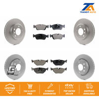 Front Rear Coated Disc Rotors & Ceramic Brake Pads Fits Bmw 323I 325I 328I 323Ci