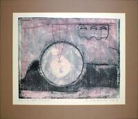 Grosse Aquatinta mit Prägung von Karl Heinz HARTMANN-OELS (*1928 D) handsigniert
