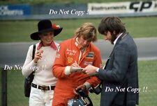 James Hunt & Suzy Hunt Hesketh F1 Portrait British Grand Prix 1974 Photograph