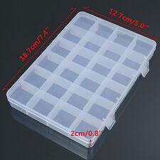 24 Compartimentos Plástico Caja Funda bisutería grano Almacenamiento Craft