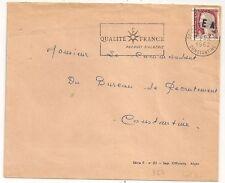 CONSTANTINE SURCHARGE  E A ALGERIE ETAT ALGERIEN SUR ENVELOPPE. COVER. L867