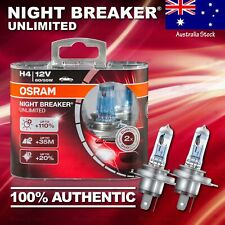 2x H4 472 OSRAM Night Breaker UNLIMITED +110% DuoBox Bulbs Lamps for LOW BEAM