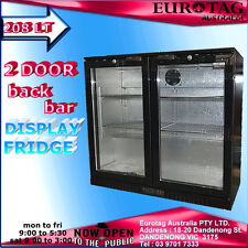 EUROTAG 208LT 2 DOOR  UNDER  BENCH BACK BAR DISPLAY FRIDGE 1 Years Warranty $$$