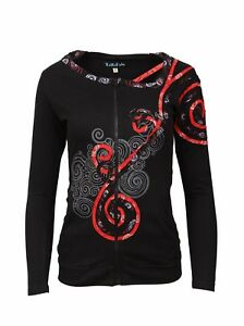 Tattopani Ladies Long Sleeve Light Sinker Jacket with Front Embroidery