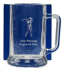 Personalised Golf Pint  Glass Tankard  Birthday Free Gift Box GT13