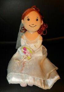 """Manhatten Toy Groovy Girl Bride Doll 13"""" GUC Soft Rag Doll Wedding"""