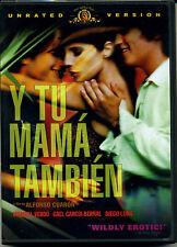 Y Tu Mama Tambien Dvd Maribel Verdú, Gael García Bernal, Ana López Mercado, Die