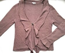 PER UNA M&S Light Brown Shrug Cardigan M Medium 12 14 Silk Linen Waterfall