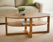 Oval Shaped Milton Coffee Table Modern Design with Shelf