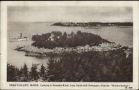 Peaks Island ME Pumpkin Knob & Steamer c1910 Postcard