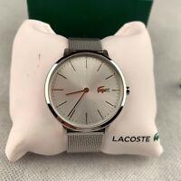 New Lacoste Women's Watch Quartz Gold Silver Stainless Steel Mesh Strap 2000987