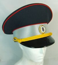 Russian Road Patrol Service Police Officer Reflective Visor Hat Cap Badge 61 XL