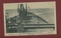 British Dreadnought Guns. Singer vintage postcard  ps265