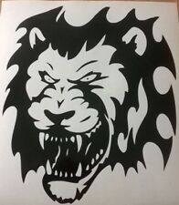 lion head tribal vinyl graphics decals car stickers peugeot tiger big cat fear
