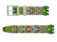 Original Swatch New Gent 19 mm Silikon Armband Mumu-Cucurrucucu ASUOZ210, Neu