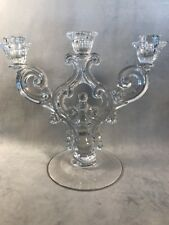 PV02454 Clear Cambridge #1443 Trindle / 3-light Candle Holder