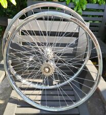 Van Schothorst Front + Rear Wheels 24 x 1.75 rims Maillard hubs Vintage cruiser
