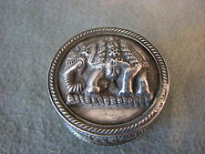 Elefanten Dose massiv Silber Indien 4,5 cm Durchmesser