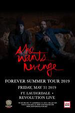 """SHE WANTS REVENGE """"FOREVER SUMMER TOUR 2019"""" FT. LAUDERDALE CONCERT POSTER"""