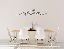 GATHER - wall vinyl sticker home decor table kitchen inspirational art 21 COLORS