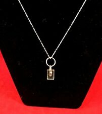 Cremation Urn Necklace w/ single rhinestone & fill kit Jewelry sympathy funeral