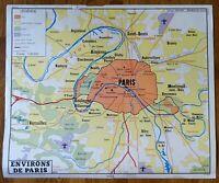 carte d'école - affiche scolaire 1960 Rossignol - paris et région parisienne