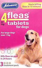 JOHNSONS 4 FLEAS TABLETS FOR LARGE DOGS, 3 TREATMENTS Starts Working in 15 Mins