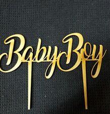 Laser Cut Wooden Cake Topper - Baby Boy