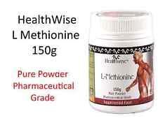 1 x 150g HealthWise L - Methionine Powder Pure Powder Pharmaceutical Grade