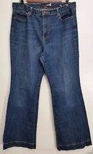 Seven 7 Jeans Studio SIze 12 Dark Wash Wide Leg Boot Cut Denim Stretch