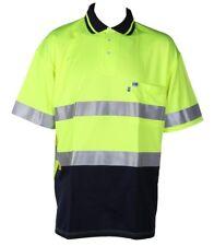 WORKSENSE Poly/Cotton Polo Shirts, Size 6XL, Short Sleeve, 3M Reflective +Yellow