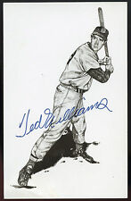 """Ted Williams signed Post Card 3 1/2"""" x 5 1/2"""" -  EX+/NearMint  Condition"""