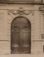 c1890 Anonyme Paris Porte Albumen Print Tirage Albumine Vintage No Eugène Atget