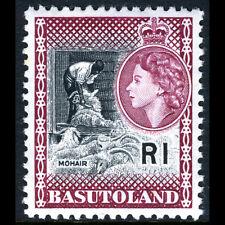 Basutoland 1961-63 1R Noir & Maroon. Sg 79. Excellent État Jamais Utilisé
