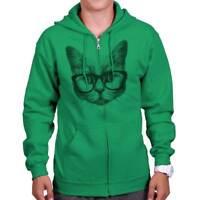 Cool Hipster Cat Funny Kitten Cute Gift Idea Zipper Sweat Shirt Zip Sweatshirt