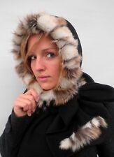 Damen Mütze Schalmütze Kapuzenschal elegant Schwarz Hut Schal warm Wind Winter