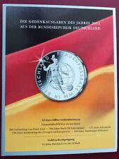 Münzfolder 10 € Gedenkmünzen Set 2011 BRD Ausgabe MDM für 6 x 10 Euro - Münzen