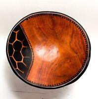 Rustic Primitive Vintage Hand Carved Wood Bowl Tribal Folk Art
